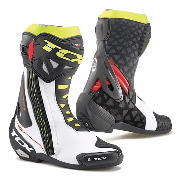 TCX RT-Race Boot - White/Red/Fluo Yellow