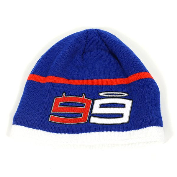 GP Apparel Lorenzo 99 Beanie - Yamaha White/Blue