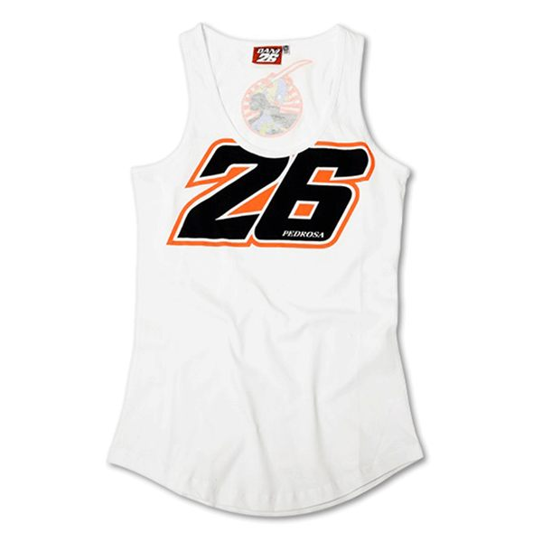 VR46 Pedrosa 26 Ladies Vest - White