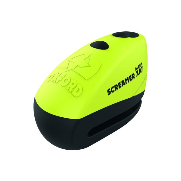 Oxford Screamer XA7 Alarm Disc Lock - Yellow/Matt Black