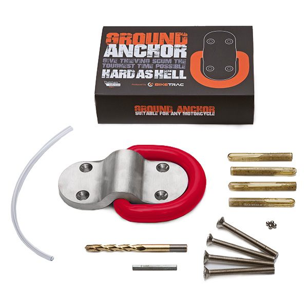 Biketrac Hard Security Ground Anchor - Red