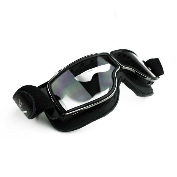 Davida Aviator T1 Goggles Chrome/Clear