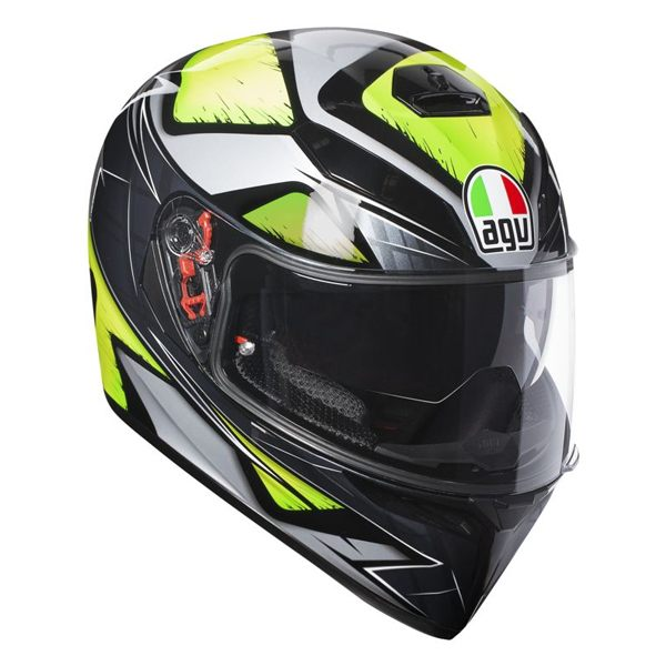 AGV K3 SV - Liquefy Grey/Fluro Yellow