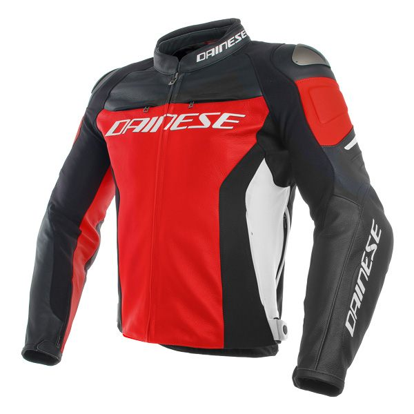 Dainese Racing 3 Leather Jacket - Red/Black/White