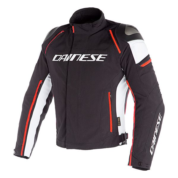 Dainese Racing 3 D-Dry Jacket - Black/White/Fluo Red