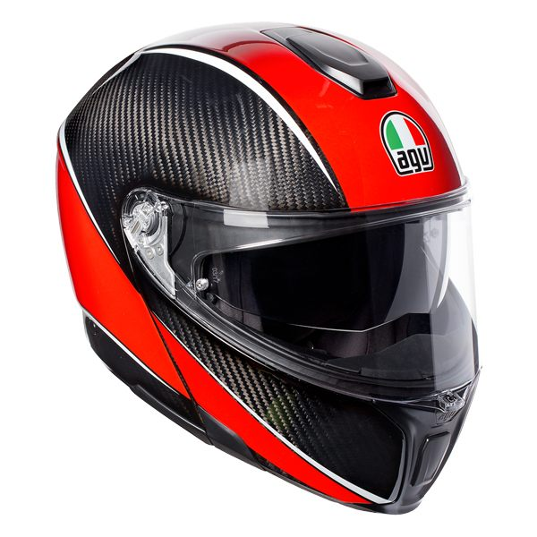 AGV Sports Modular - Aero Carbon/Red (Free £50 Voucher)