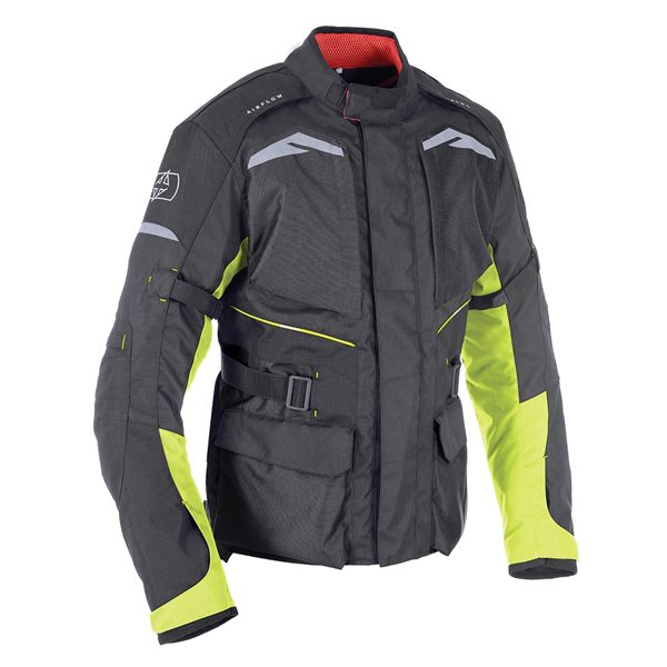 Oxford Quebec 1.0 Waterproof Jacket - Black/Fluo