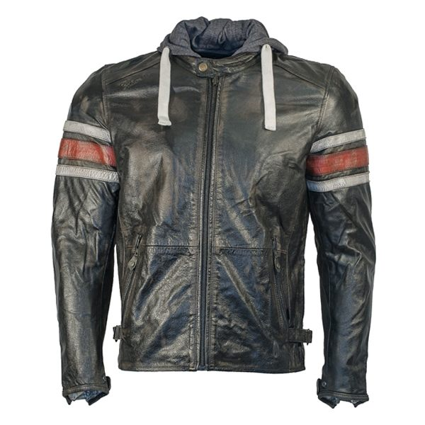 Richa Toulon Leather Jacket - Black/Red