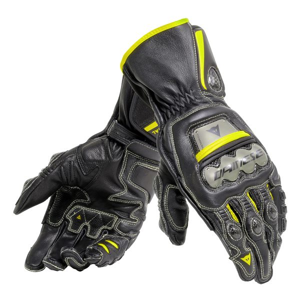 Dainese Full Metal 6 Gloves - Black/Fluo Yellow
