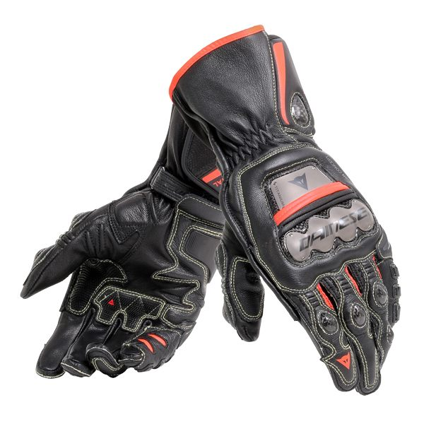 Dainese Full Metal 6 Gloves - Black/Fluo Red