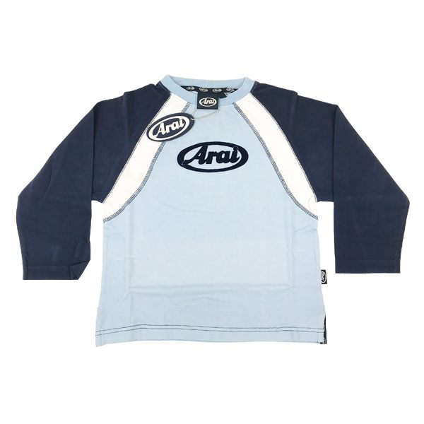 Arai Raglan Kids Long Sleeved Top - Navy/Blue