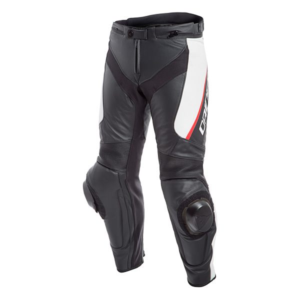Dainese Delta 3 Leather Jeans - Black/White/Red