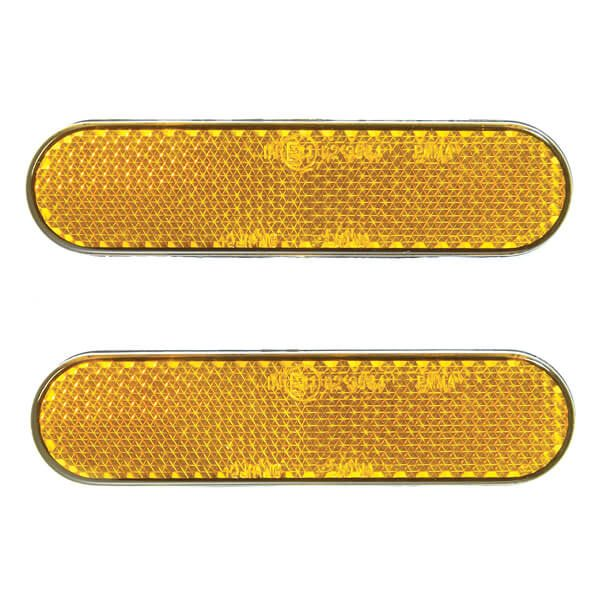Bike It 2 Piece Self Adhesive Reflector Set - Orange