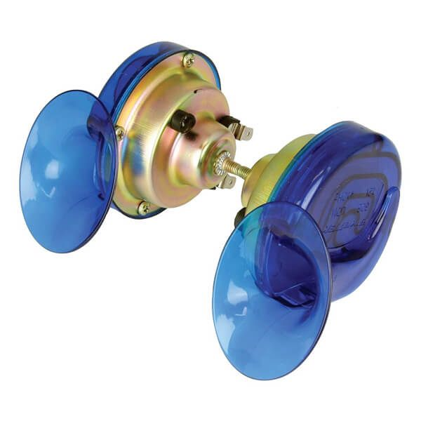 Bike It Horn Twin Pack Snail 12V - Blue