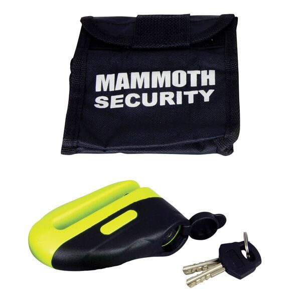 Bike It Mammoth Blast Disc Lock 10mm Pin - Yellow