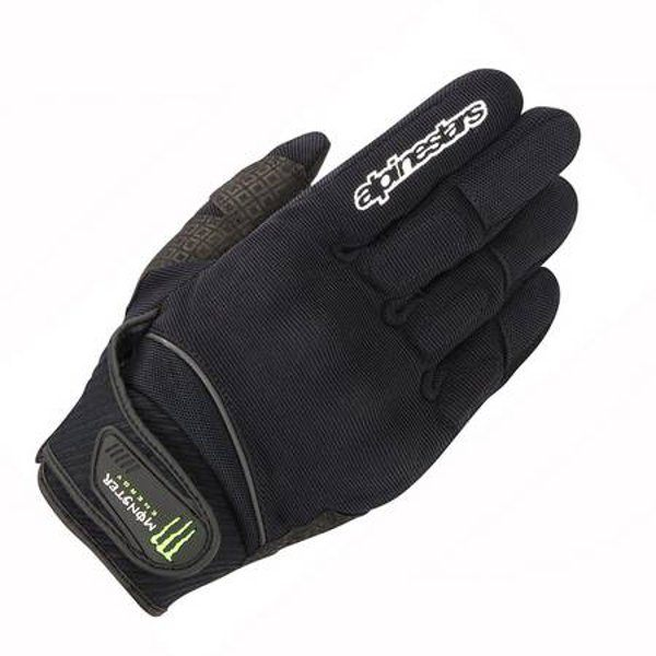 Alpinestars Obsidian Monster Gloves - Black/Green