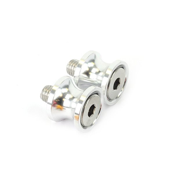 Bike It Paddock Stand Bobbins 6mm Thread - Alloy