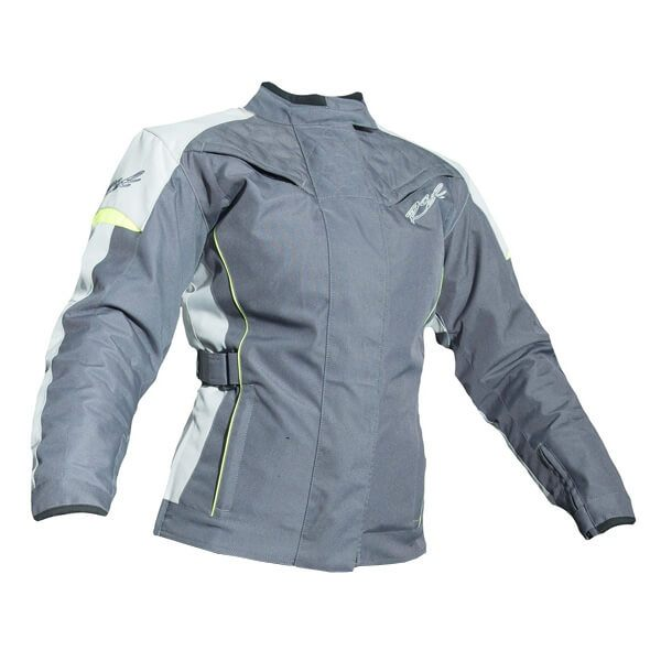 RST Gemma 2 2045 Ladies Waterproof CE Jacket - Gun/Fluo Yellow