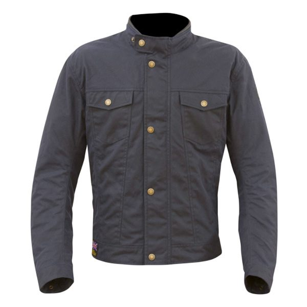 Merlin Anson Wax Jacket - Navy