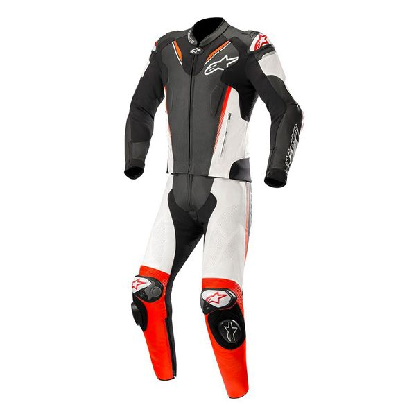 Alpinestars Atem V3 2Pce Leather Suit - Black/White/Fluo Red