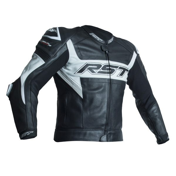 RST Tractech Evo R CE Leather Jacket - White