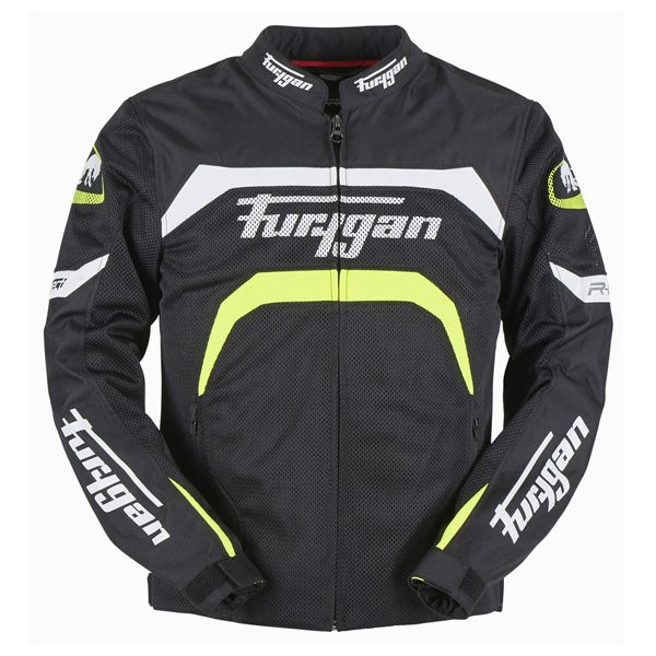 Furygan Arrow Mens CE Vented Jacket - Black/Yellow
