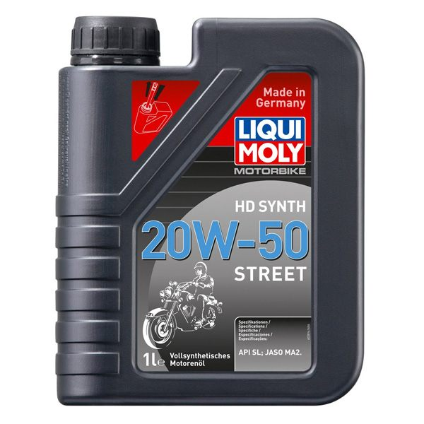 Liqui Moly Oil 4 Stroke - Fully Synth - Hd Street - 20W-50 - 1L