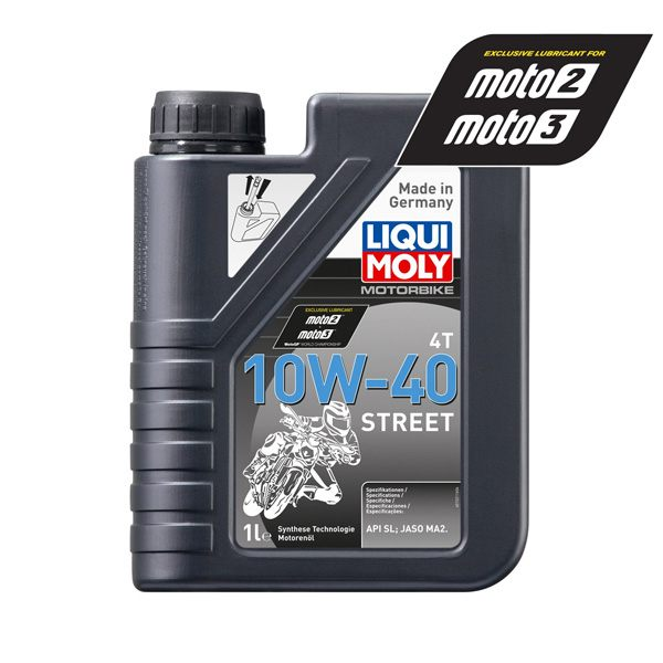 Liqui Moly Oil 4 Stroke - Semi Synth - Street - 10W-40 - 1L