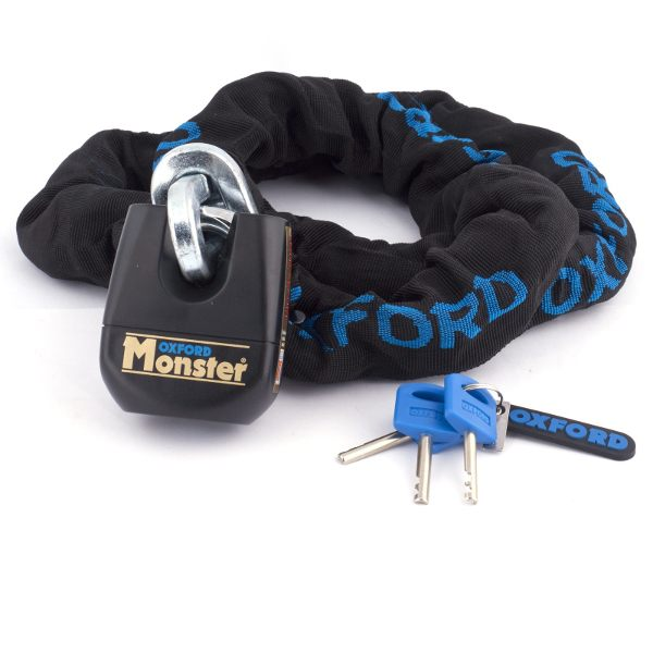 Oxford Monster Lock & Chain 12mm Square - 1.5m