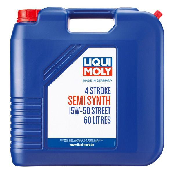 Liqui Moly Oil 4 Stroke - Semi Synth - Street - 15W-50 - 60L