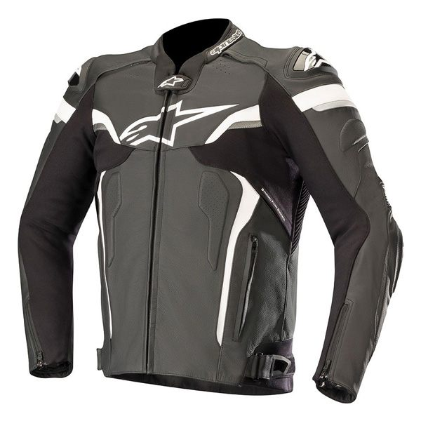 Alpinestars Celer V2 Leather Mens Jacket - Black/White