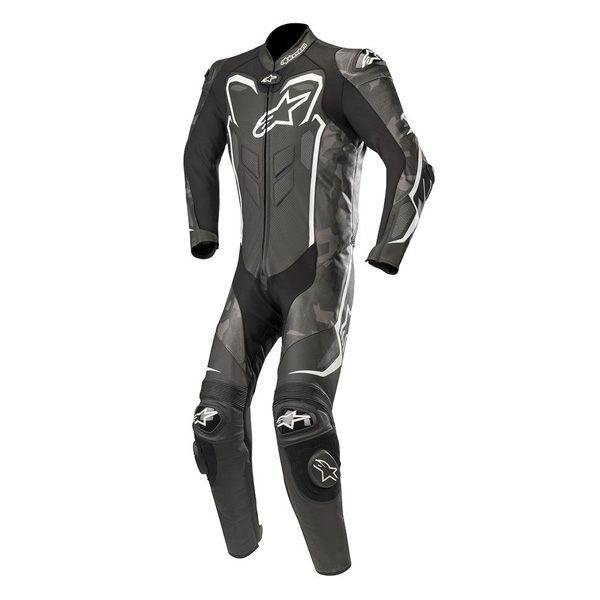 Alpinestars GP Plus Camo 1 Piece Leather Suit - Black/White/Camo