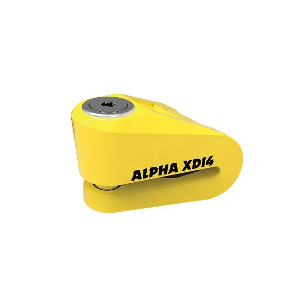 Oxford Alpha XD14 Stainless disc lock - 14mm pin - Yellow