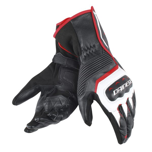 Dainese Assen Gloves - Black/White/Red