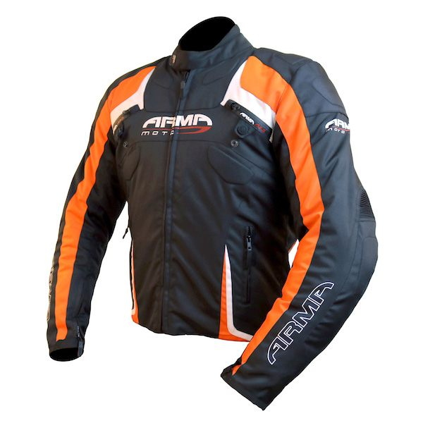ARMR Moto Eyoshi Jacket - Black/Orange