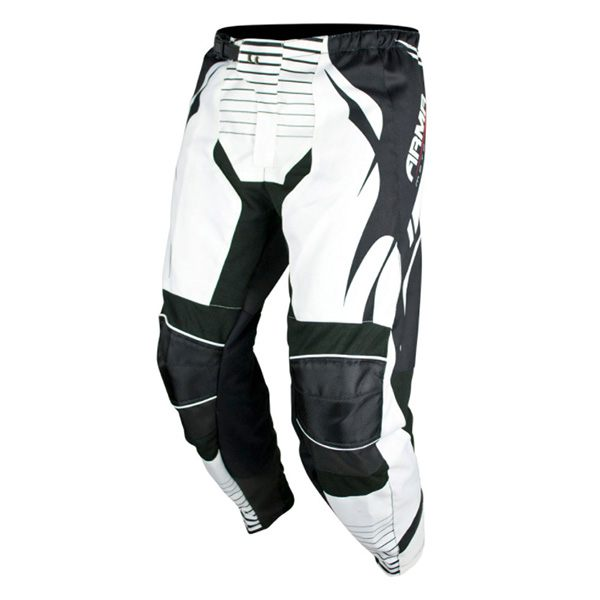 ARMR Moto KPMX3 Kids MX Trousers - Black/White