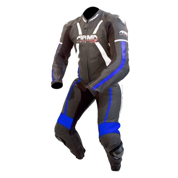 ARMR Moto Harada R 2017 Leather Suit - Black/Blue