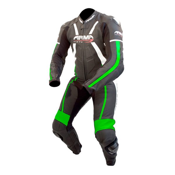 ARMR Moto Harada R 2017 Leather Suit - Black/Green