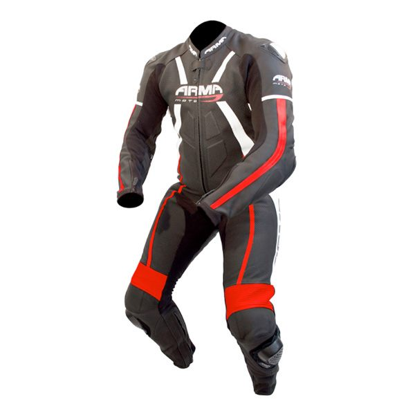 ARMR Moto Harada R 2017 Leather Suit - Black/Red