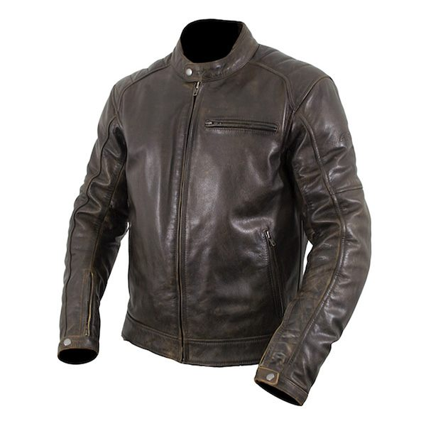 ARMR Moto Hiro Classic Leather Jacket - Brown