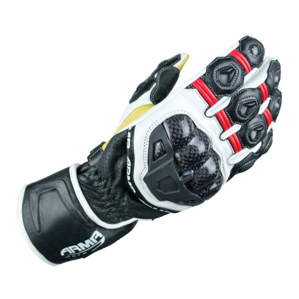 ARMR Moto S470 Gloves - Red/White/Black