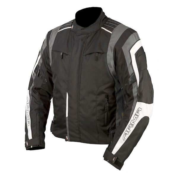 ARMR Moto Ikedo Jacket - Black/Grey/White