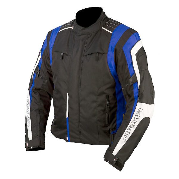 ARMR Moto Ikedo Jacket - Black/Blue/White