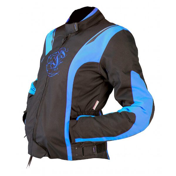 ARMR Moto Jojo Ladies Jacket - Black/Baby Blue