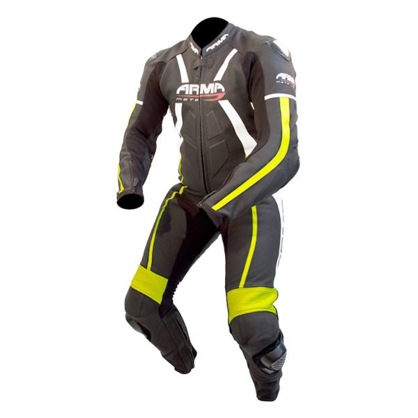 * ARMR Moto Harada R 2016 Leather Suit - Black/Fluo Yellow