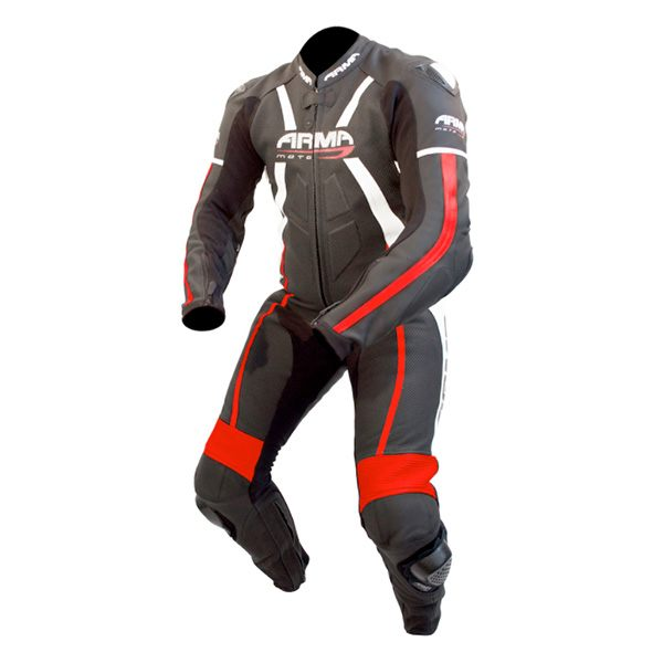 * ARMR Moto Harada R 2016 Leather Suit - Black/White/Red