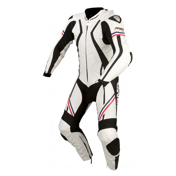 * ARMR Moto Harada R 2016 Leather Suit - White/Blue/Red