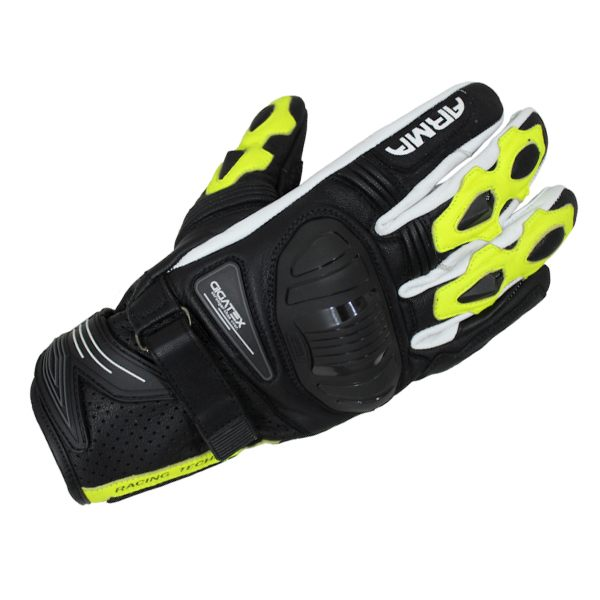 ARMR Moto S880 Glove - Black/Fluo Yellow