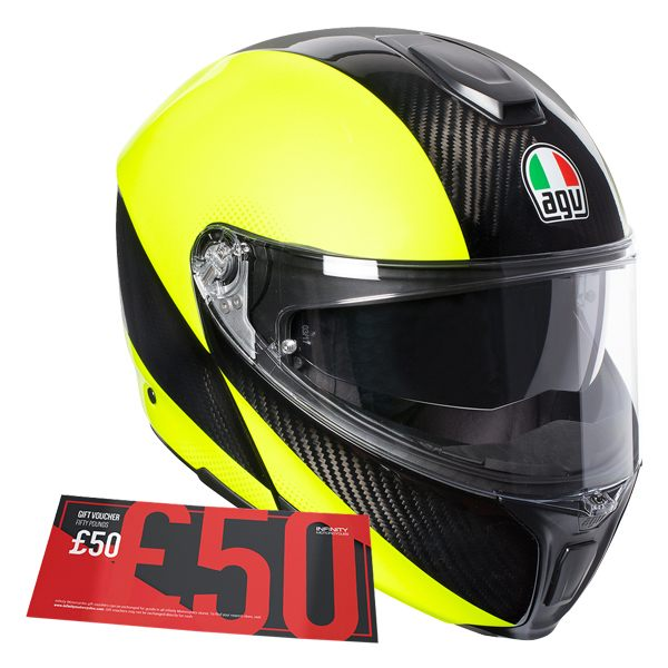 AGV Sports Modular - Hi-Vis Carbon/Fluro Yellow [£50 Voucher]