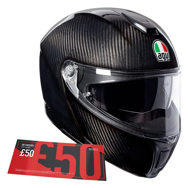 AGV Sports Modular - Gloss Carbon (Free £50 Voucher)